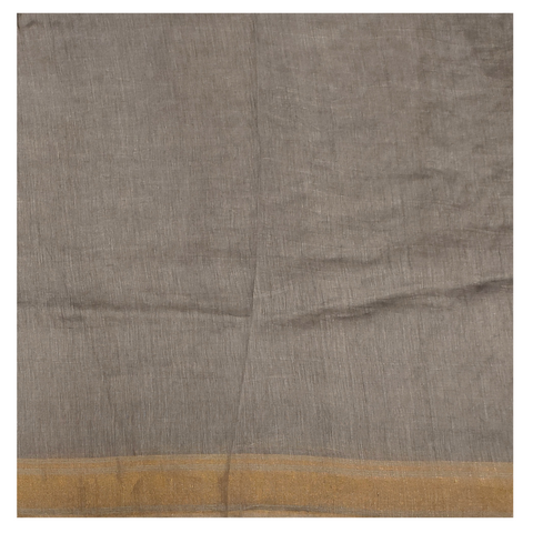 GREY LINEN DESIGNER SAREE