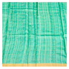 MULTICOLOURED PRINTED TUSSAR SAREE