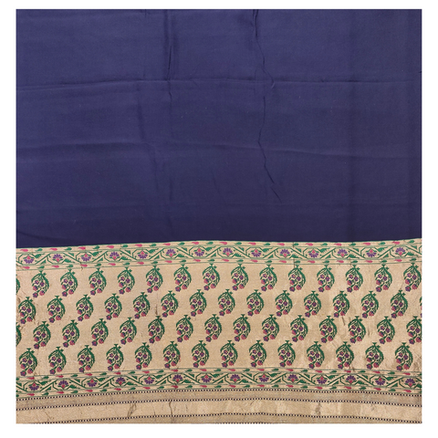 BLUE GEORGETTE BANARSI SAREE