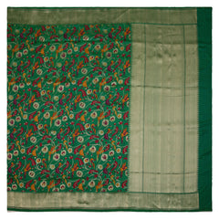 GREEN BANARSI SILK SAREE,