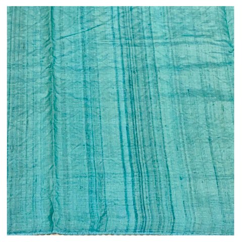 BLUE TUSSAR LUCKNAWI SAREE