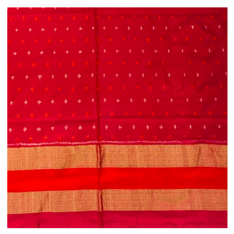 BURGUNDY IKKAT SILK SAREE