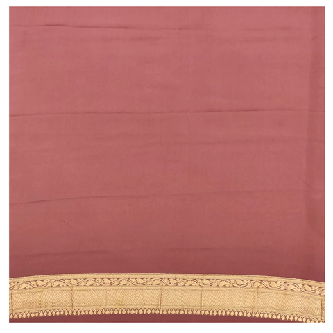 BURGUNDY GEORGETTE BANARSI SAREE