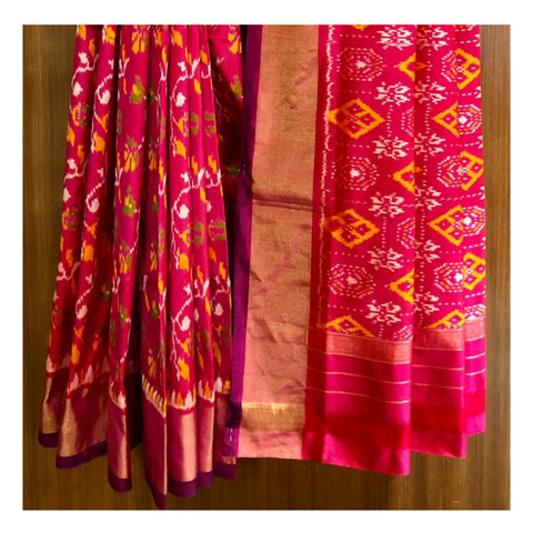 PINK PATOLA SILK SAREE,