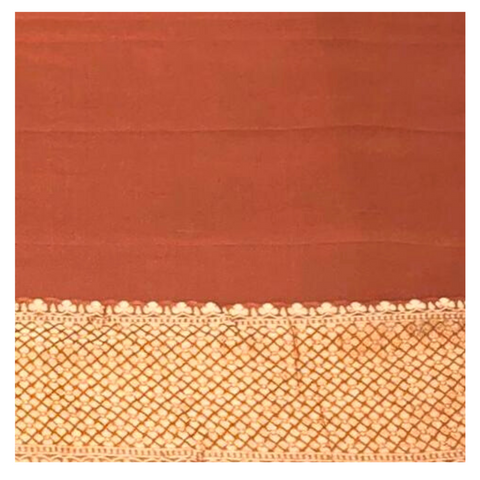 OLD ROSE KHADDI GEORGETTE BANARSI SAREE