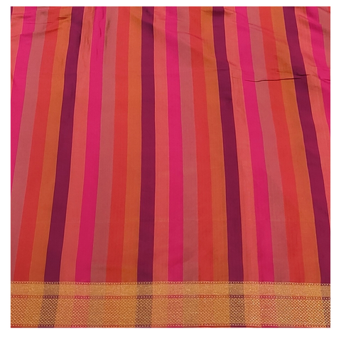 MULTICOLOURED SILK BANARSI SAREE