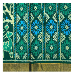 GREEN PATOLA SILK SAREE,