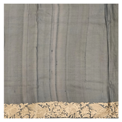 GREY ORGANZA DESIGNER SAREE