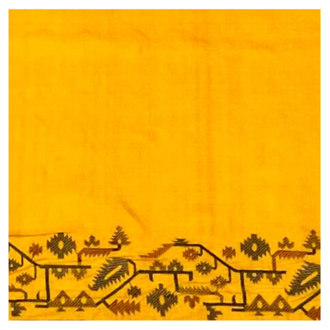 YELLOW TUSSAR DESIGNER SAREE