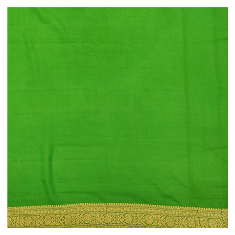 GREEN GEORGETTE BANARSI SAREE