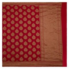 RED BANARSI GEORGETTE SAREE,