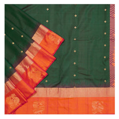 GREEN SOFT SILK SILK SAREES,