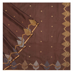 BROWN SOFT SILK SILK SAREES