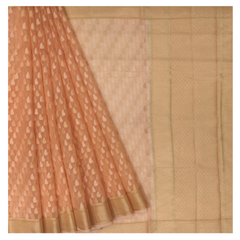 PEACH COTTON/HANDLOOM/BANARASI SAREE