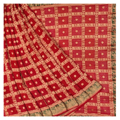 RED GEORGETTE BANDHANI SAREE