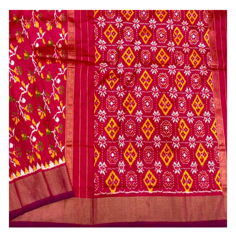 PINK PATOLA SILK SAREE