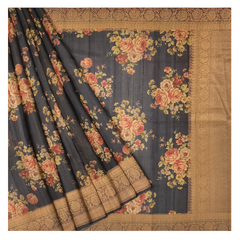 NAVY TUSSAR SOFT SILKS SAREE