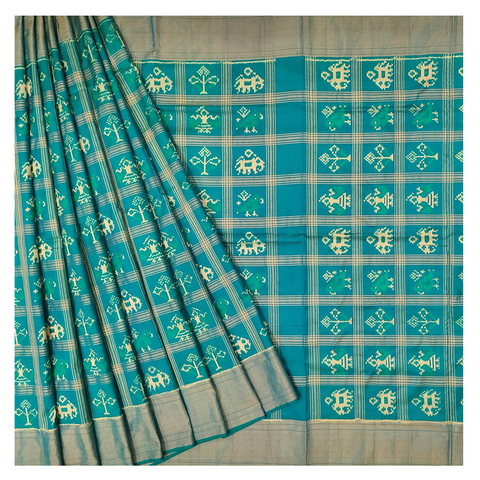 BLUE SILK PATOLA SAREE