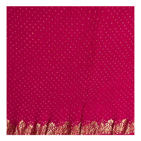 MAGENTA TRADITIONAL BANDHANI SAREE,