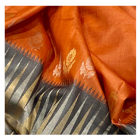ORANGE TUSSAR SAREE