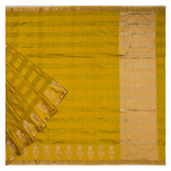 YELLOW BANARSI SILK SAREE
