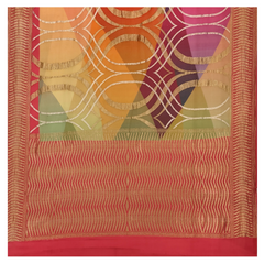 MULTICOLOURED GEORGETTE BANARSI SAREE,