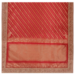 RED SILK DESIGNER SAREE