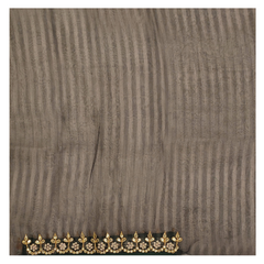 GREY ORGANZA HANDLOOMS DESIGNER SAREE