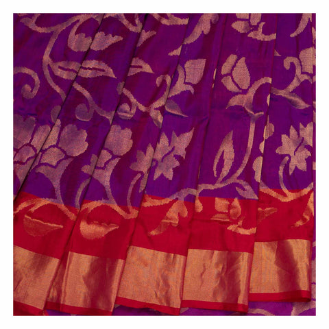 PURPLE UPPADA SILK SAREE,