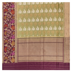 GREEN TISSUE BANARASI/HANDLOOM SAREE