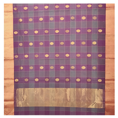 PURPLE KORA SILK CHANDERI/HANDLOOM SAREE