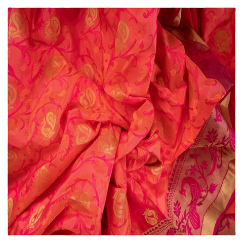 PEACH KANJEEVARAM SILK SAREE