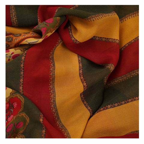 MULTICOLOURED PRINTED GEORGETTE SAREES