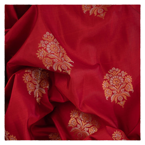 RUST KANJEEVARAM SILK SAREE