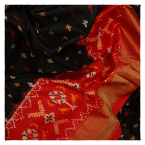 BLACK IKKAT SILK SAREE