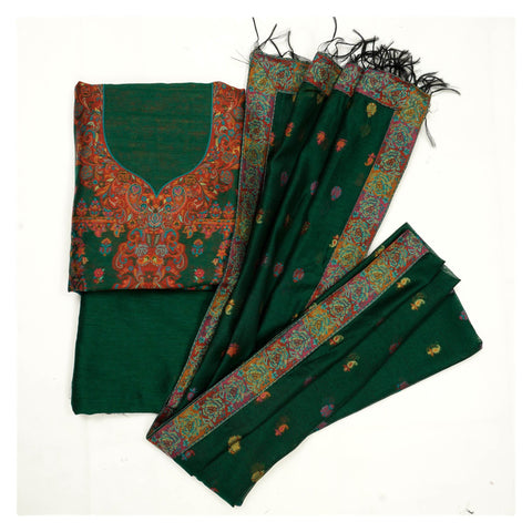 GREEN PASHMINA SUITS