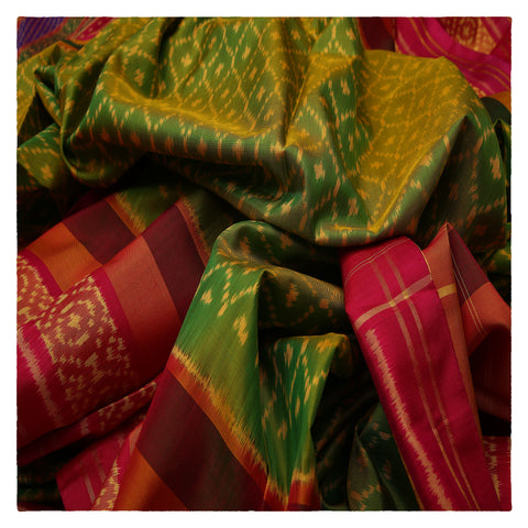 PARET GREEN PATOLA SILK SAREE