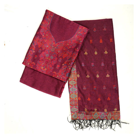 WINE PASHMINA SUITS