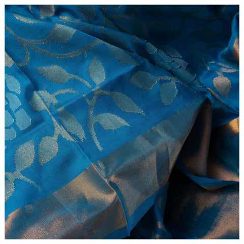 BLUE UPPADA SILK SAREE