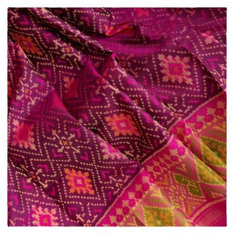 WINE PATOLA SILK SAREE