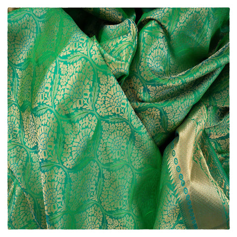 GREEN UPPADA SILK SAREE,
