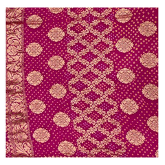 PINK TRADITIONAL BANDHANI SAREE,
