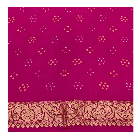PINK TRADITIONAL BANDHANI SAREE