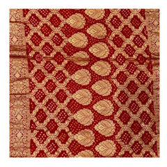 RED TRADITONAL BANDHANI SAREE