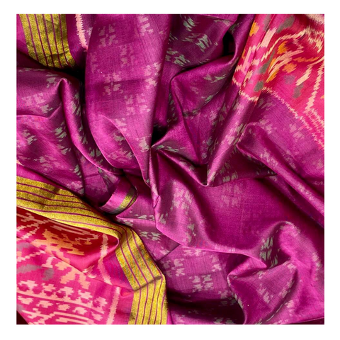 PURPLE SILK PATOLA SAREE,