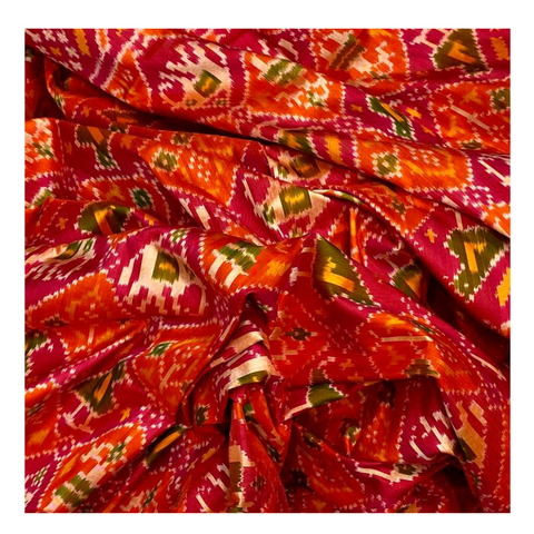 MULTICOLOURED SILK PATOLA SAREE,