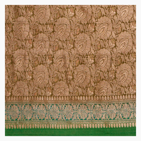 GREEN BANARSI TUSSAR SAREE
