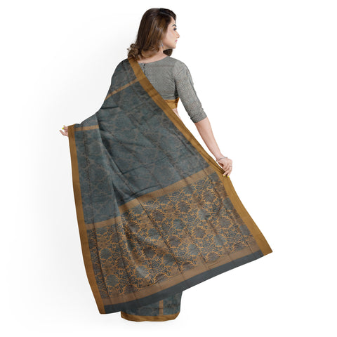 GREY KANJEEVARAM SILK SAREE