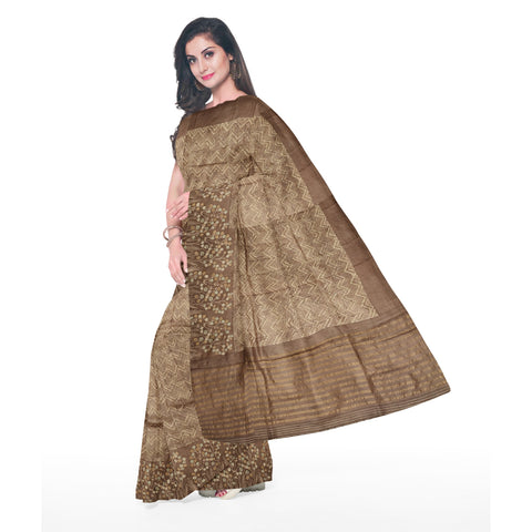 BROWN DESIGNER TUSSAR SAREE