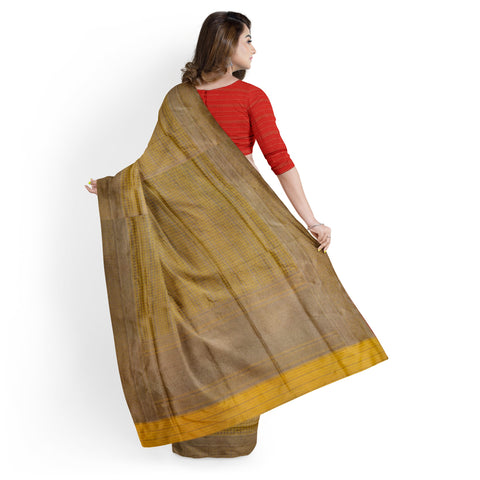 YELLOW / MUSTARD BANARSI SILK SAREE